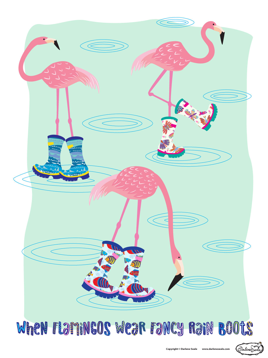 When Flamingos Wear Fancy Rain Boots