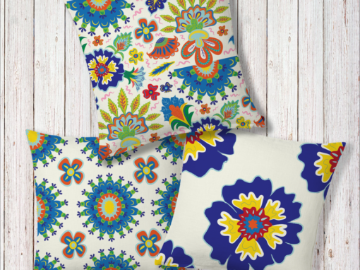 Summer Flowers Outdoor Cushions